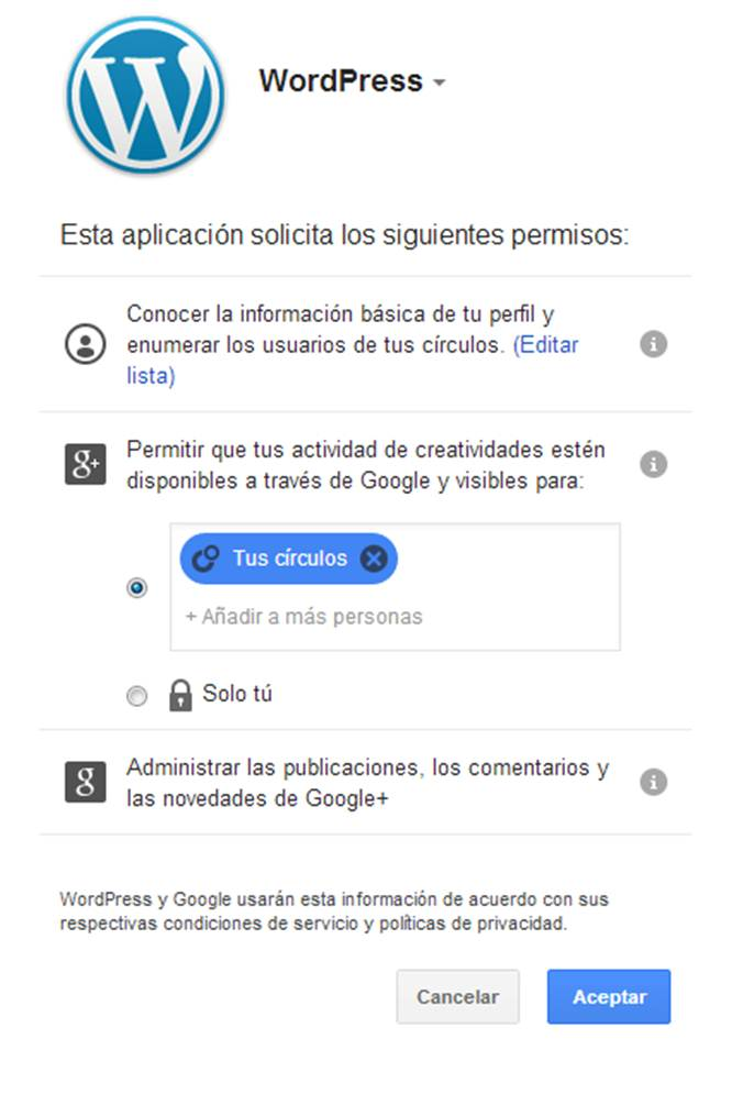 permisos de acceso