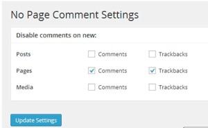 plugin no page comment