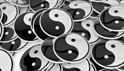 Yin-yang badges